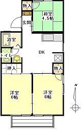 メゾンジュメル[2階]の間取り