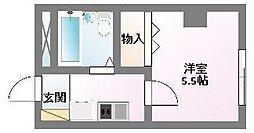 エスポアール西屋[2階]の間取り