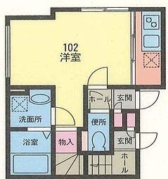 プレッソ戸塚[1階]の間取り