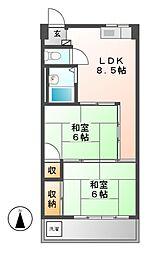 東雲会館[4階]の間取り