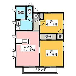 ソレーユ小泉B[2階]の間取り