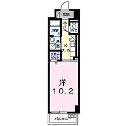 パークレーン香春口[6階]の間取り