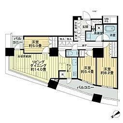 ザ・パークハウス西新宿タワー60[12階]の間取り