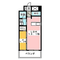 セレニティー大須[2階]の間取り