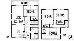 [テラスハウス] 兵庫県宝塚市山本中3丁目 の賃貸【/】の間取り