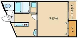 m&mステータス國分[4階]の間取り