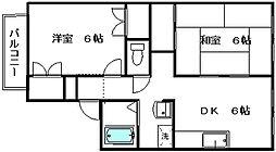 新潟県新潟市西区青山4丁目の賃貸アパートの間取り