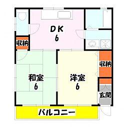 田口ハイツ[102号室]の間取り