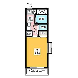 グランメール吉塚[6階]の間取り