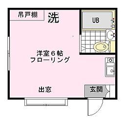 小宅コーポ[1階]の間取り