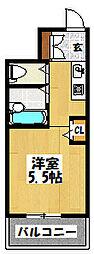 大阪府大阪市都島区中野町1の賃貸マンションの間取り