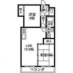 いづみマンション[303号室]の間取り