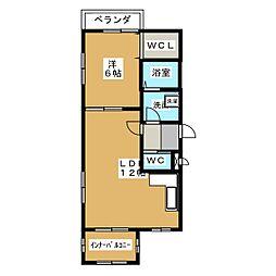 カーサ・フィオーレII[2階]の間取り