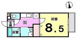 メゾンドール・Nishihuna[102号室]の間取り