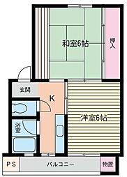 尻手コーポ[103号室]の間取り
