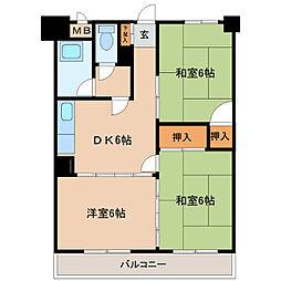 古賀第2ビル[301号室]の間取り