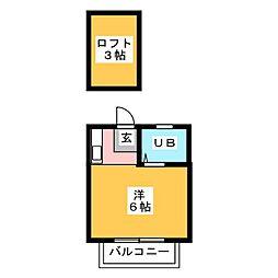 サンライフ竹下[2階]の間取り