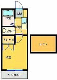 プレステージIII[2−A号室]の間取り
