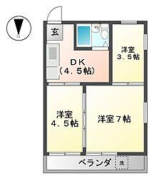 北野町マンション[4階]の間取り