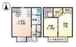 モンテノーメ[1階]の間取り