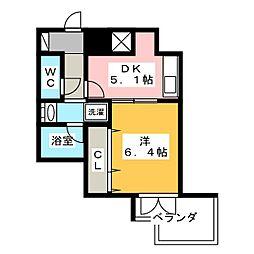 静岡茶町エンブルコート[2階]の間取り