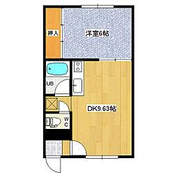 ドリーム24(岩崎マンション)[203号室]の間取り