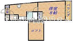 アロンディール中宮[3階]の間取り