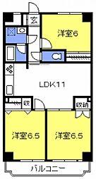 リバーサイドコート[301号室号室]の間取り