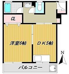 神奈川県横浜市神奈川区子安台2丁目の賃貸マンションの間取り