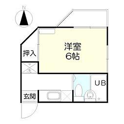 中村ハイツ[1階]の間取り