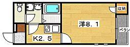 クレイノ葵[2階]の間取り