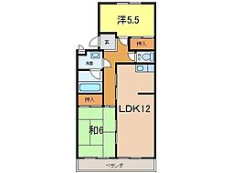 エクセル築地[3階]の間取り