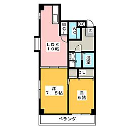 上前津レクティ[3階]の間取り
