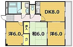 VIA SACRA 京田辺 -ヴィアサクラ-[2階]の間取り