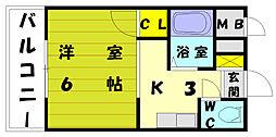 コーポ中村[2階]の間取り