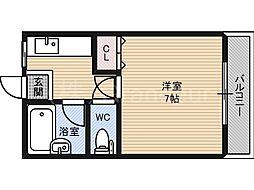 リバティハウス[4階]の間取り