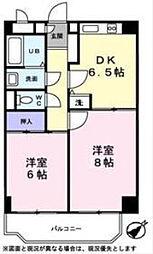 東京都板橋区氷川町の賃貸マンションの間取り