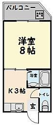 第3三恵ビル[202号室]の間取り