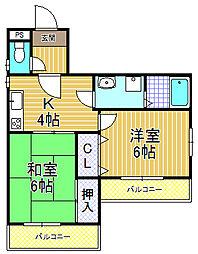 福商ビル[2階]の間取り