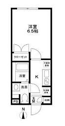 都営浅草線 本所吾妻橋駅 徒歩2分の賃貸マンション 1階1Kの間取り