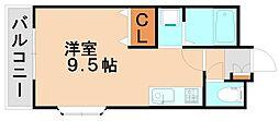 エムハーティ21[3階]の間取り