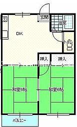岡山県岡山市中区さい東町1丁目の賃貸アパートの間取り