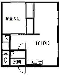 睦荘[3号室]の間取り
