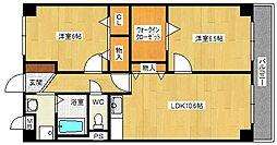 大阪府大阪市西淀川区御幣島6丁目の賃貸マンションの間取り