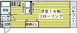 モリハイム小松[107号室]の間取り