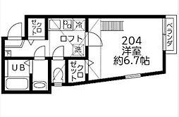 DSコート・21[204号室]の間取り