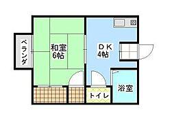 パナハイツクラタ A[2階]の間取り