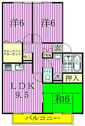 フレマリール鎌ヶ谷E[101号室]の間取り