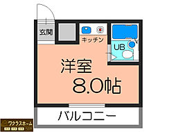大阪府堺市堺区中安井町3丁の賃貸マンションの間取り