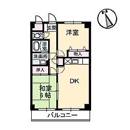 広島県呉市阿賀中央5丁目の賃貸マンションの間取り